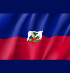 flag haiti realistic icon vector image