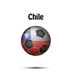 Flag of chile in the form of a soccer ball vector
