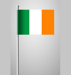 Flag of ireland national flag on flagpole vector