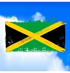 Flag of Jamaica against the sky vector