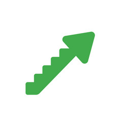 flat design concept of arrow stairs moving up vector image