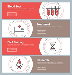Flat Design Concept Set of Web Banners Blood Test vector
