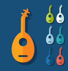 Flat design lute vector