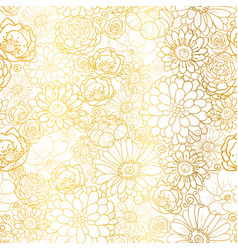 Golden flowers texture pattern vector