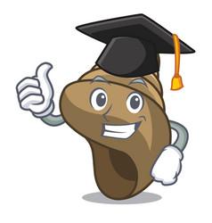 Graduation spiral shell character cartoon vector