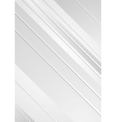 Grey minimal tech striped flyer background vector image