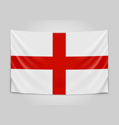 Hanging flag of england england national flag vector