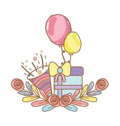 Happy birthday cartoons vector