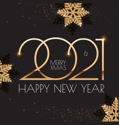 Happy new 2021 year elegant holiday design vector