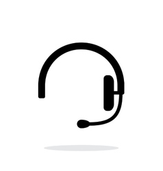 Headset icon on white background vector image