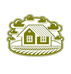 House detailed village idea Graphic countr vector