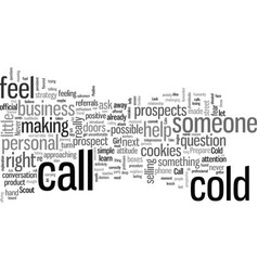 How to make cold calls dlvy nicheblowercom vector