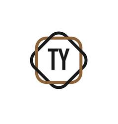 initial letter ty elegance logo design template vector image
