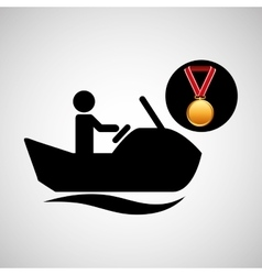 Jet ski medal sport extreme graphic vector