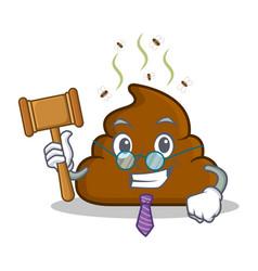 Judge poop emoticon character cartoon vector