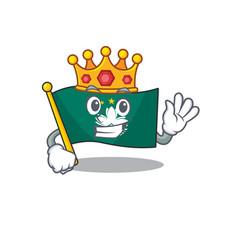 King indonesian flag macau on cartoon character vector