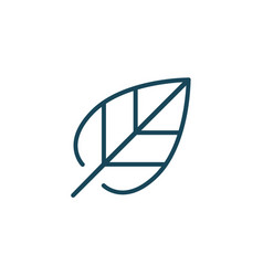 leaf linear outline icon or logo isolated on vector image