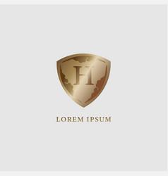 Letter h alphabet logo design template luxury vector