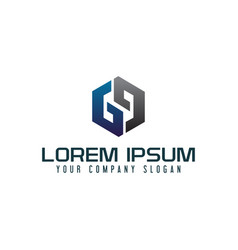 modern letter g logo design concept template vector image