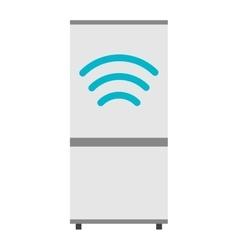 Modern refrigerator kitchen flat vector