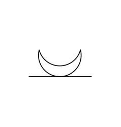 Moonrise line icon vector