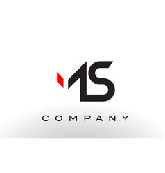 Ms logo letter design vector