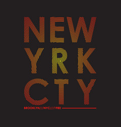new yrk cty t-shirt vector image