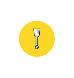 paint brush icon in trendy flat style isolated on vector image