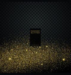 Particle golden glitter celebration background vector