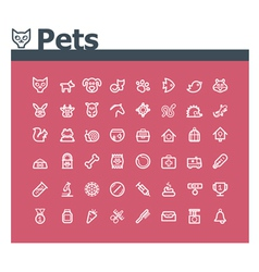 Pets icon set vector