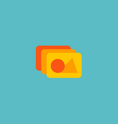 photo library icon flat element vector image
