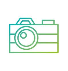 photographic camera flash button lens social media vector image