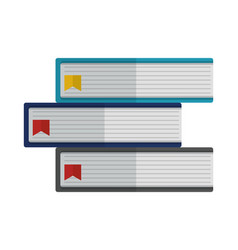 pile library books isolated icon vector image