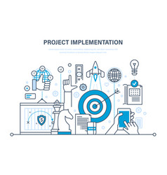 project implementation concept of project vector image