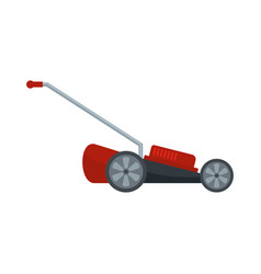 red motor grass cutter icon flat style vector image