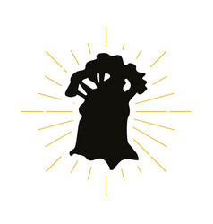 retro baobab silhouette logo vector image