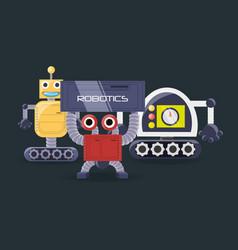 Robotics design concept vector