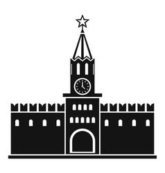 Russian kremlin icon simple style vector
