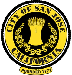 Sanjose city seal vector image