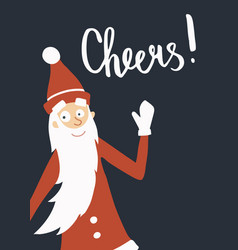 santa cheers vector image