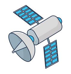 Satellite technology cartoon vector