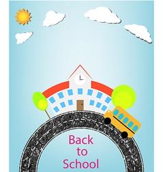 school and back to school vector image