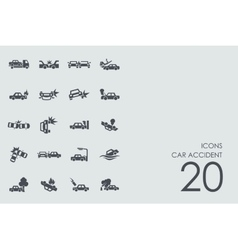 Set car accident icons vector