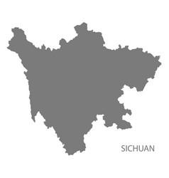 Sichuan china map grey vector