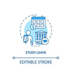 Study leave concept icon vector