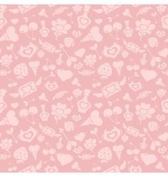 Sweet Pink Valentine Pattern vector image