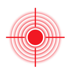 Target pain localization red circle icon vector