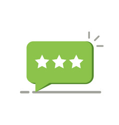 three rating star like positive feedback concept vector image