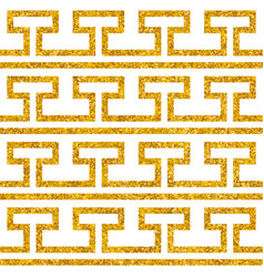 tile decorative floor gold and white tiles greek vector image