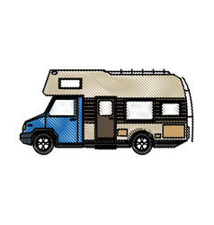 Truck camper home travel transport image vector